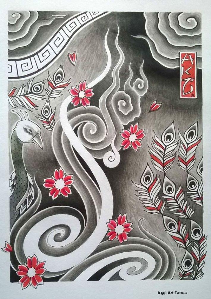 tatouage style japonais 1461896003526 tatouage. Black Bedroom Furniture Sets. Home Design Ideas
