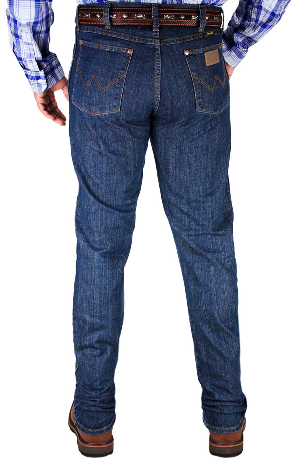 Calça wrangler Masculina Importada Cowboy Cut Original Fit Stonada Calça  jeans Wrangler masculina Importada do México.Confeccionada em … 1ab8f93e100