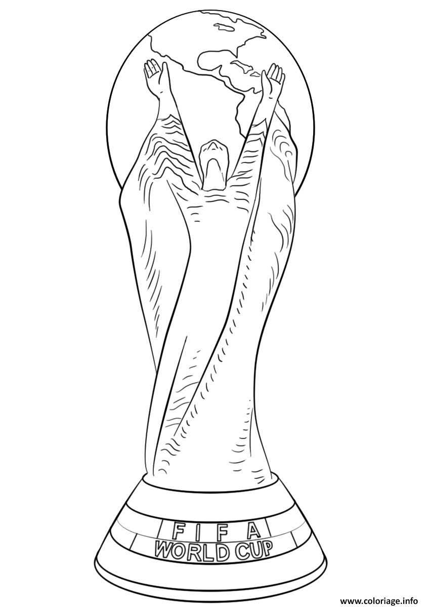 Coloriage fifa world cup football trophee coupe du monde officiel ...