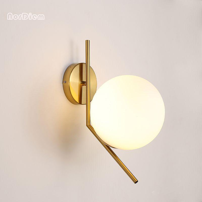 Led Lamps Foyer Bedroom Bedside Corridor Wall Lamp Modern Molecule Loft Wall Sconce Bean Glass Ball Wall Light Led Round Ball Wall Lamp Lights & Lighting