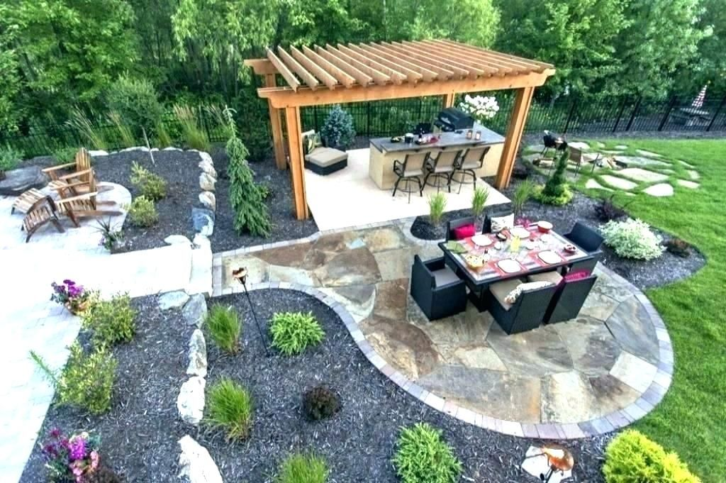 13 the best stone patio ideas small backyard landscaping on best large backyard ideas with attractive fire pit on a budget id=26979