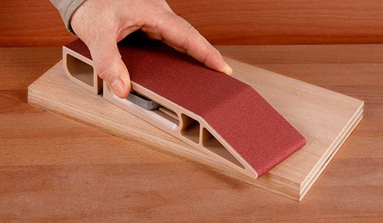 Amazing Use Belt Sander Belts With This Sanding Block Give Old Belts A Second Life Sanddevil Craft Tools Cool Tools Architecture Tools