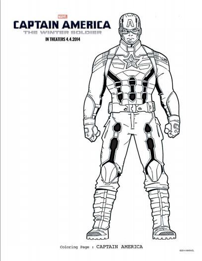 Captain America Coloring Pages & Activities Pages Do you have a ...