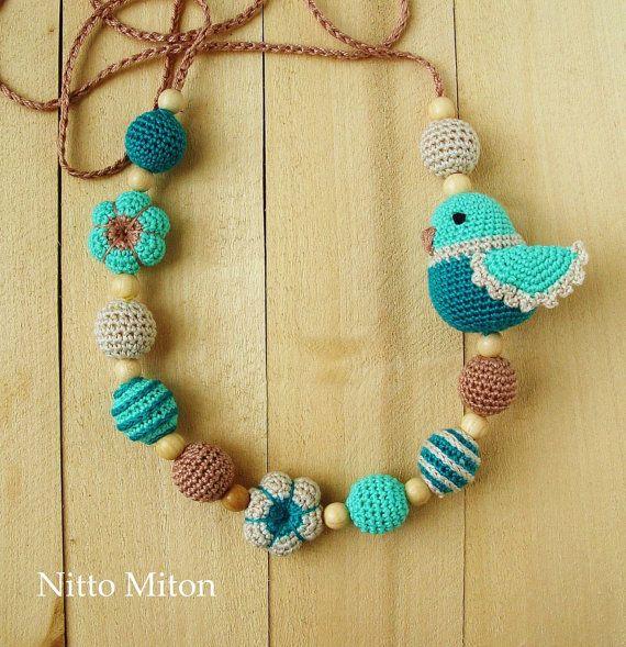 Crochet Nursing Teething Necklace For Mom Breastfeeding Baby Crochet Jewelry Teething Necklace For Mom Crochet Phone Cases