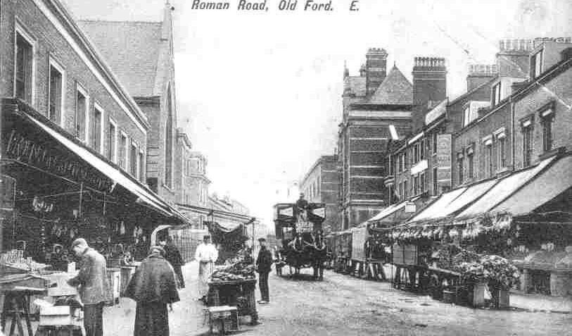An Old Photo Of Roman Road Market Mile End East London England