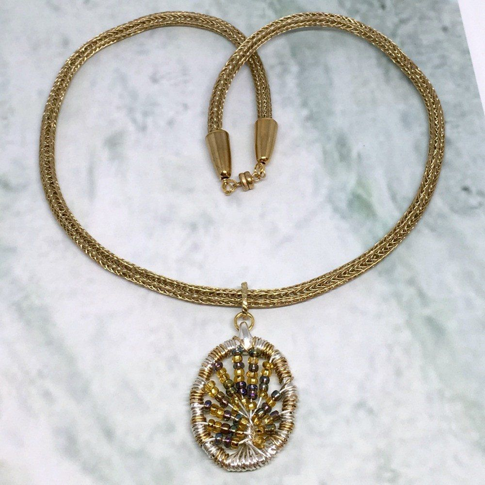 Gold Silver and Purple Tree of Life necklace | Shop donnadstore ...
