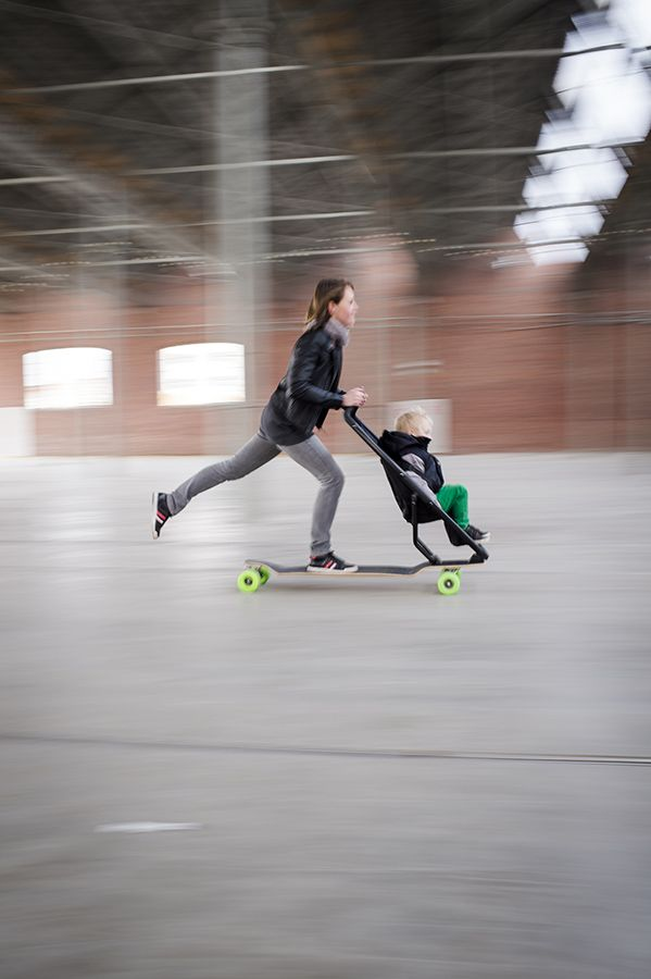 An experiment in urban mobility http://www.longboardstroller.com ...