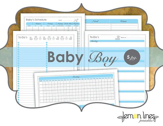 Baby Boy New Mom Printable Pack - INSTANT DOWNLOAD  Idyllic for new moms or moms-to-be, in a great shade of baby blue for a precious newborn boy.