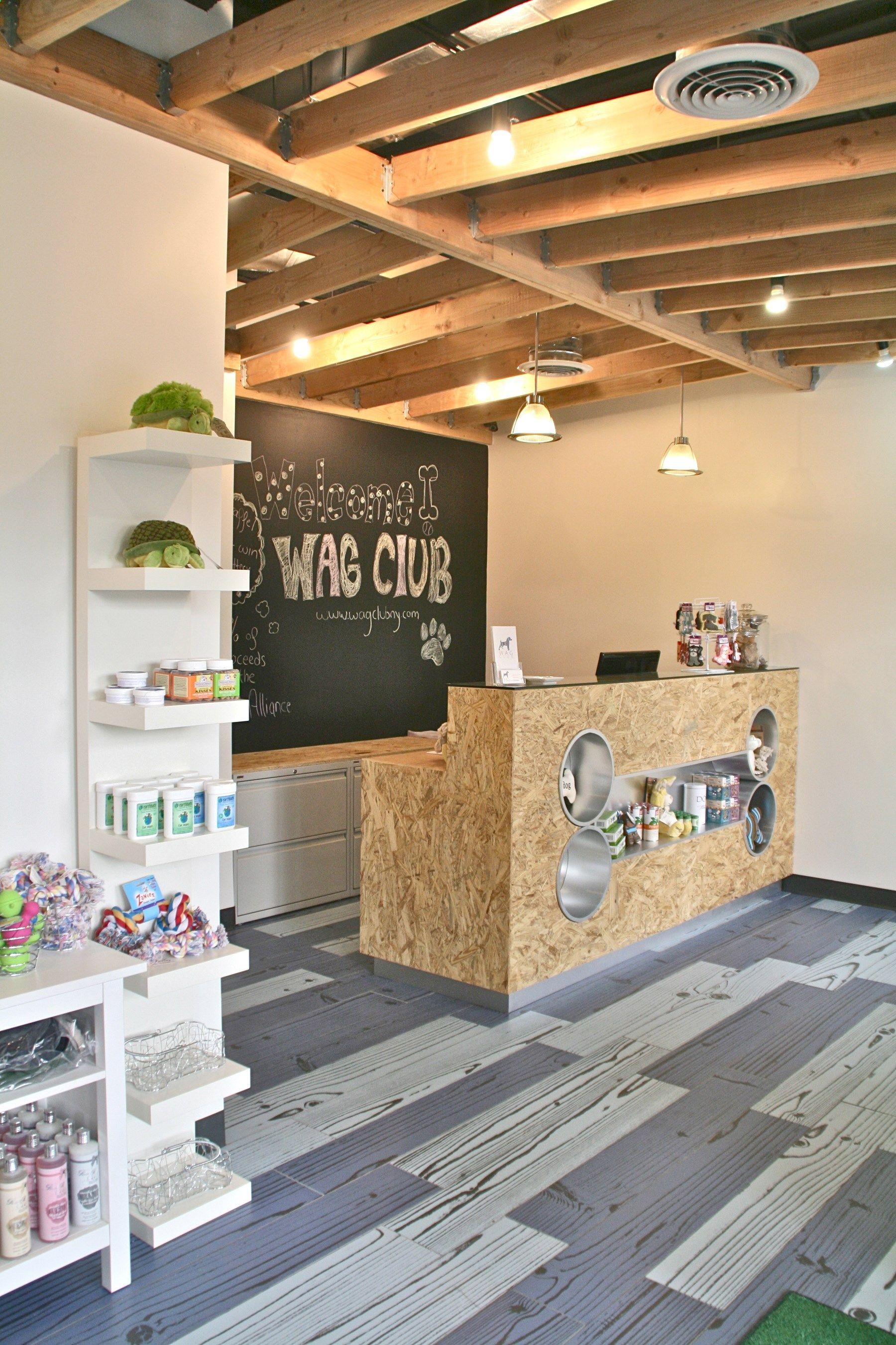 Dog Grooming Chalkboard Industrial Look Beams Grooming Salon Dog Hotel Dog Grooming Salons