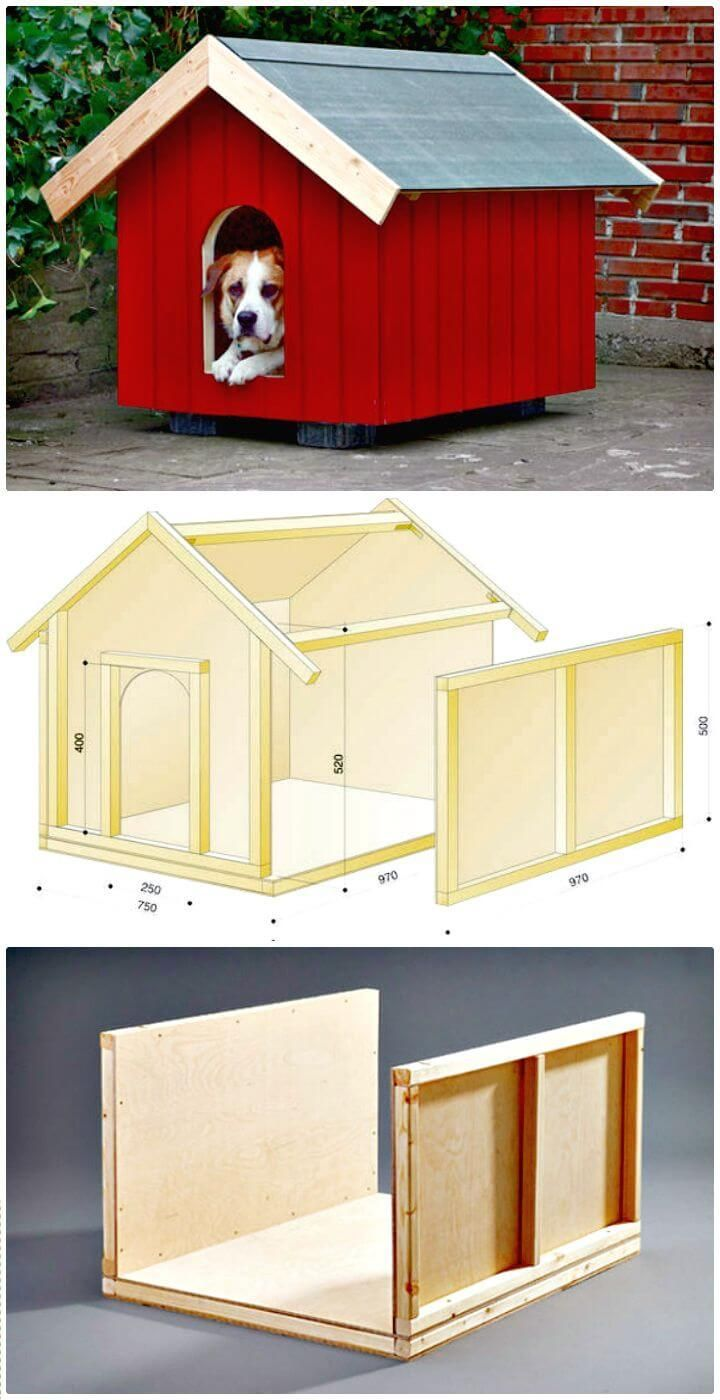 Photo of 45 Simple DIY Dog House Plans & Ideas You Should Build This Season …