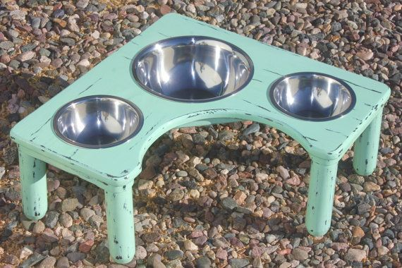3 Bowl Corner Raised Dog Feeder U Pick By