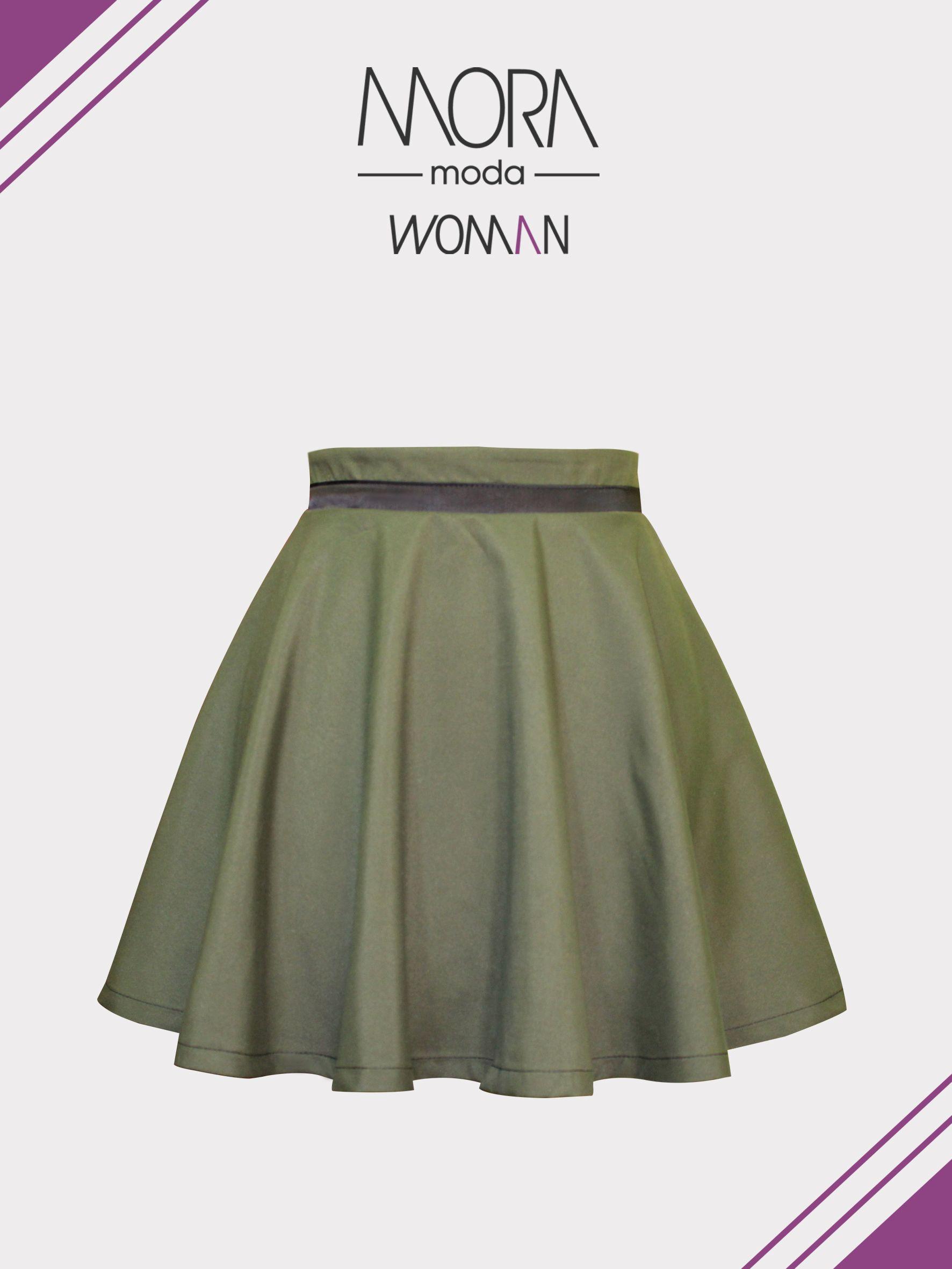 ee56fc500 NUEVO* Falda circular color militar. | MORA