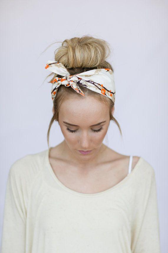 Dolly Bow Tie On Headband Doubles As Bun Wrap In Door Threebirdnest 12 00 Hair Styles Long Hair Styles Hair Day