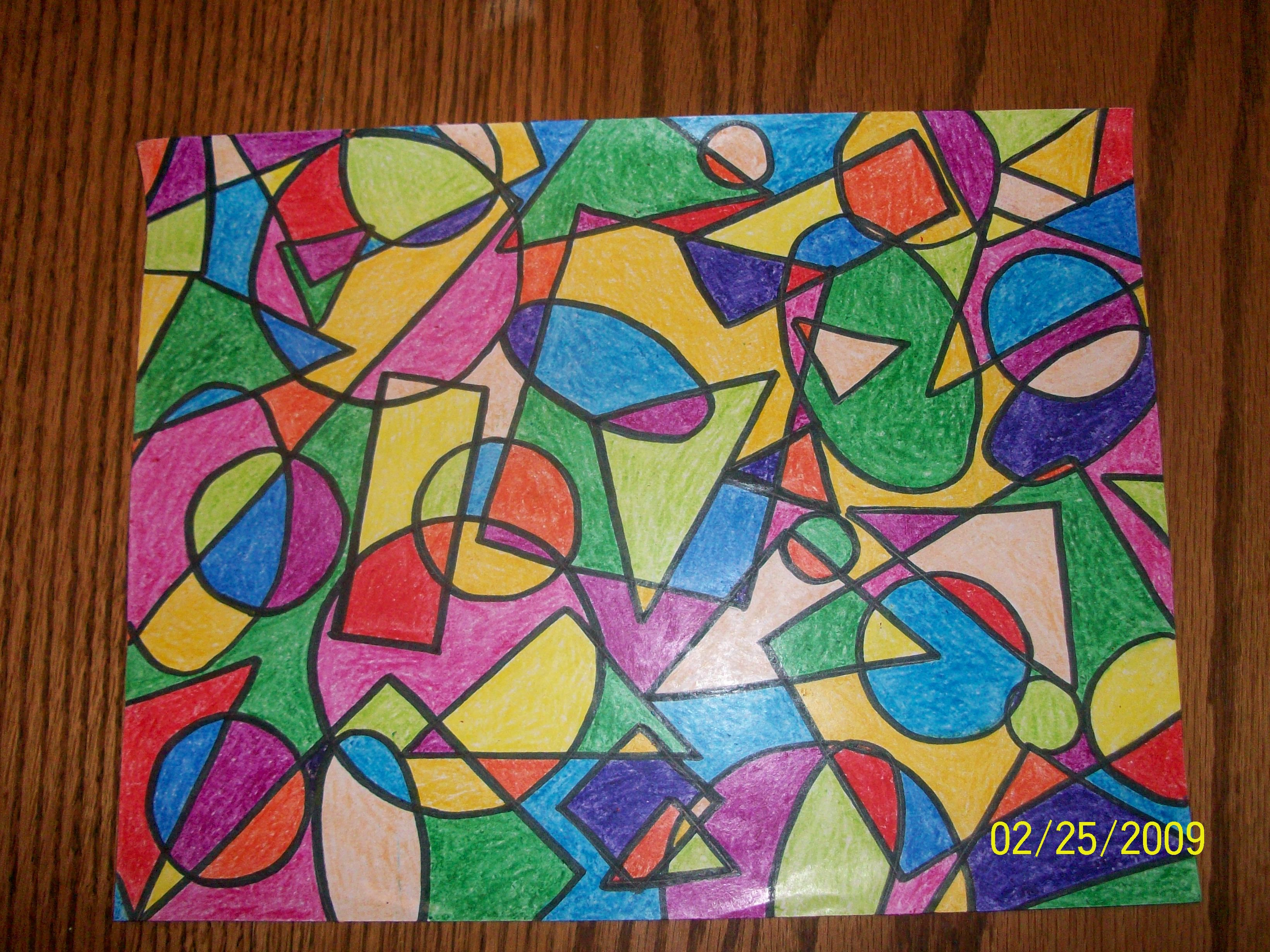 Geometric Shape Art Projects