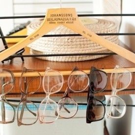 Hang Sunglasses - Get Organzed in 2013 - DIY Closet and Home Organization Tips and Ideas (photo from buzzfeed.com)