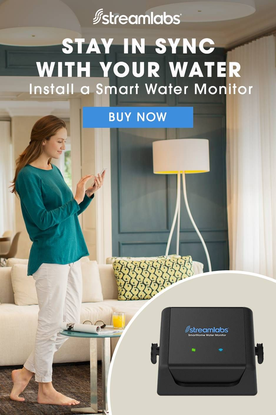 Meet Streamlabs The World S First Non Invasive Wi Fi Smart Home Water Monitoring System You Ll Get Insights Into Your Diy Home Plumbing Monitoring Prote