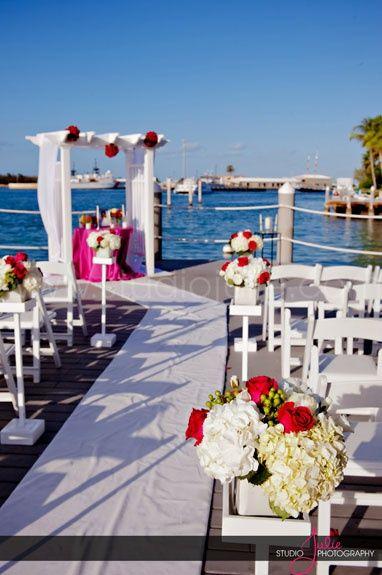 Florida Wedding A Hyatt Key West All Set For The Pier Ceremony Of Weddings In