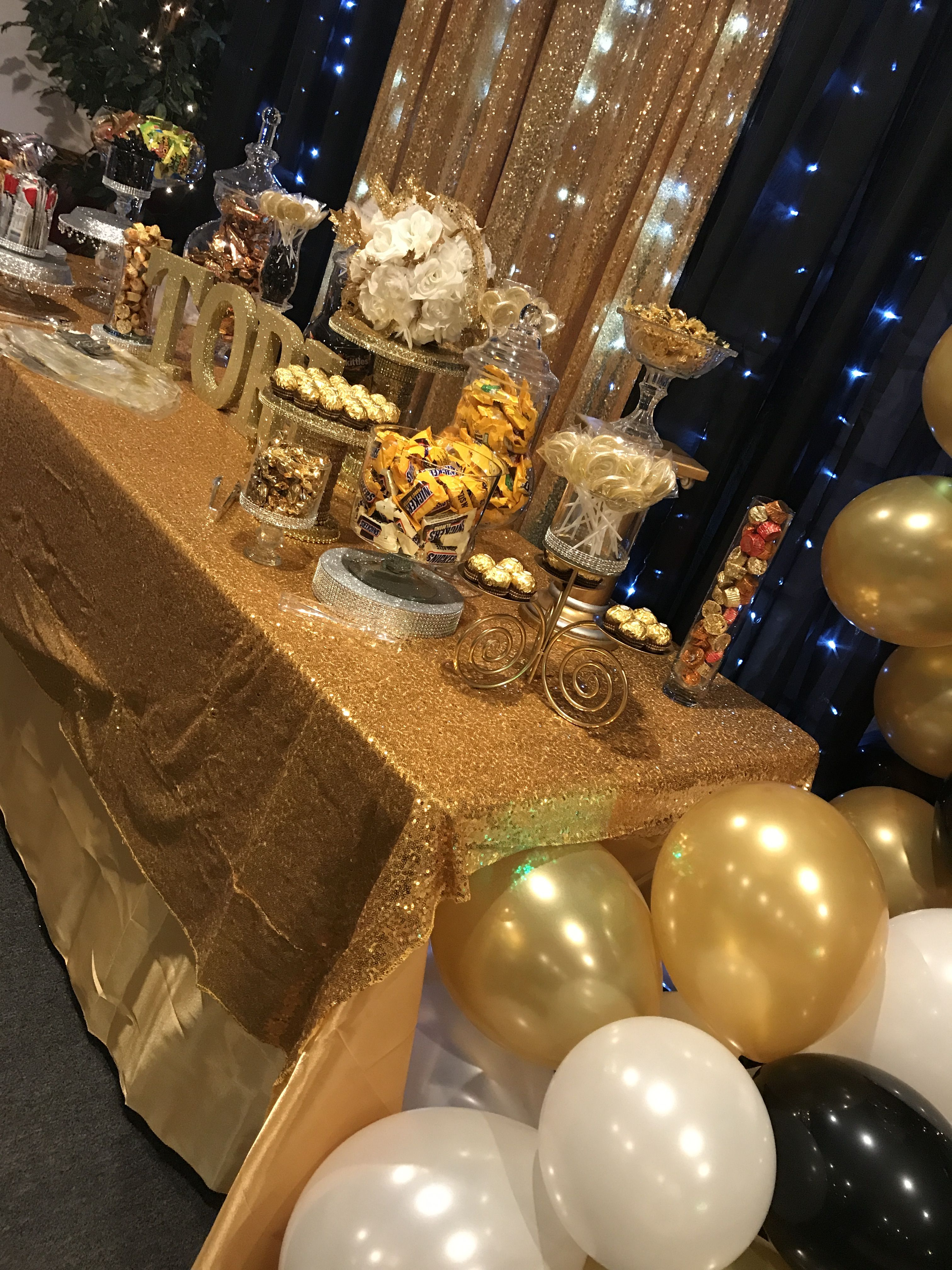 Candy Bar Great Gatsby Black And Gold White Balloons