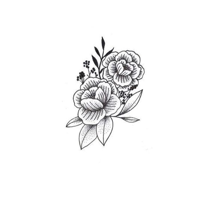 Pin De Cabello Tatuagens Artísticas Em Flores Tatuagens