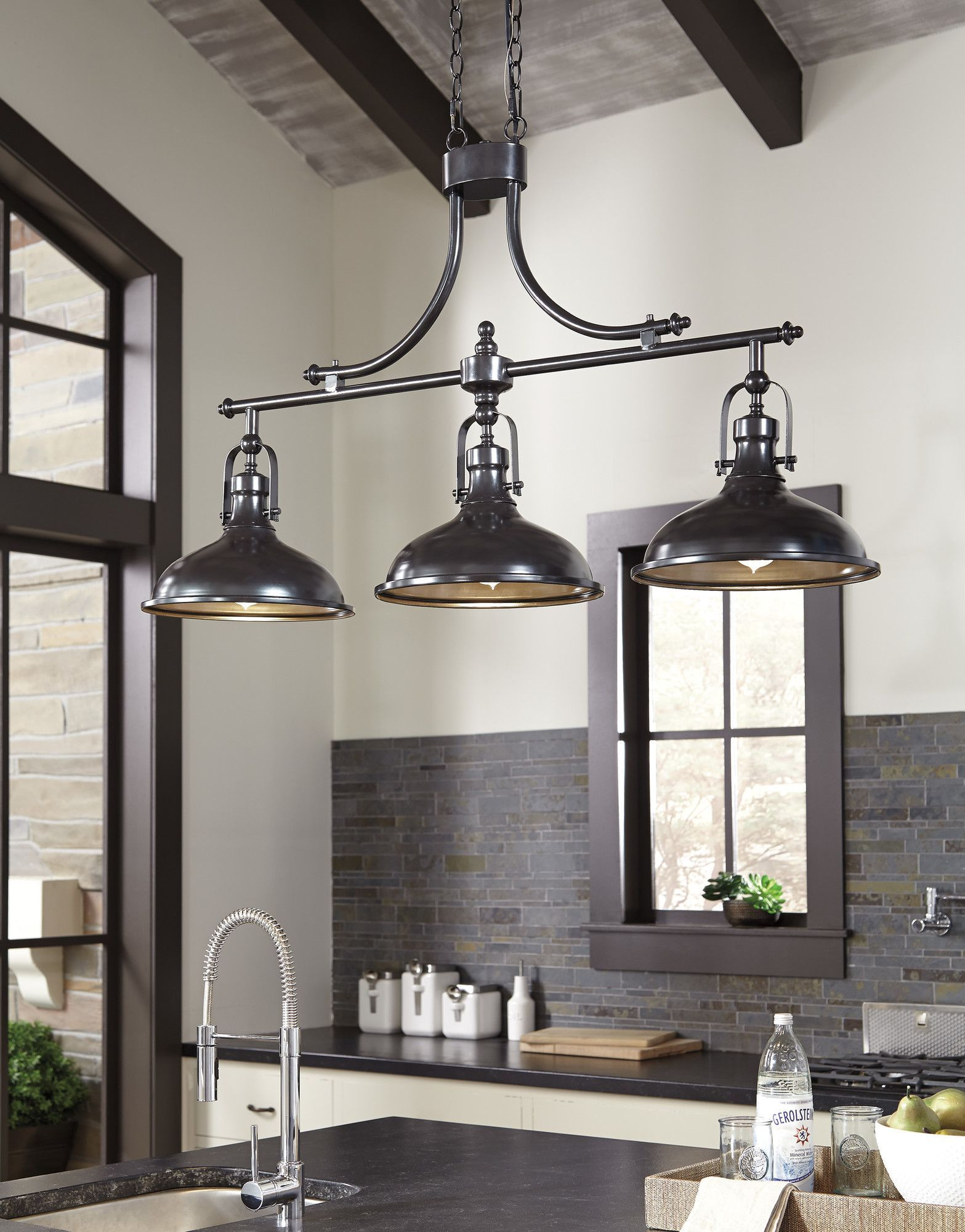 Joseph Light Kitchen Island Pendant Reviews Joss Main - Three light pendant kitchen