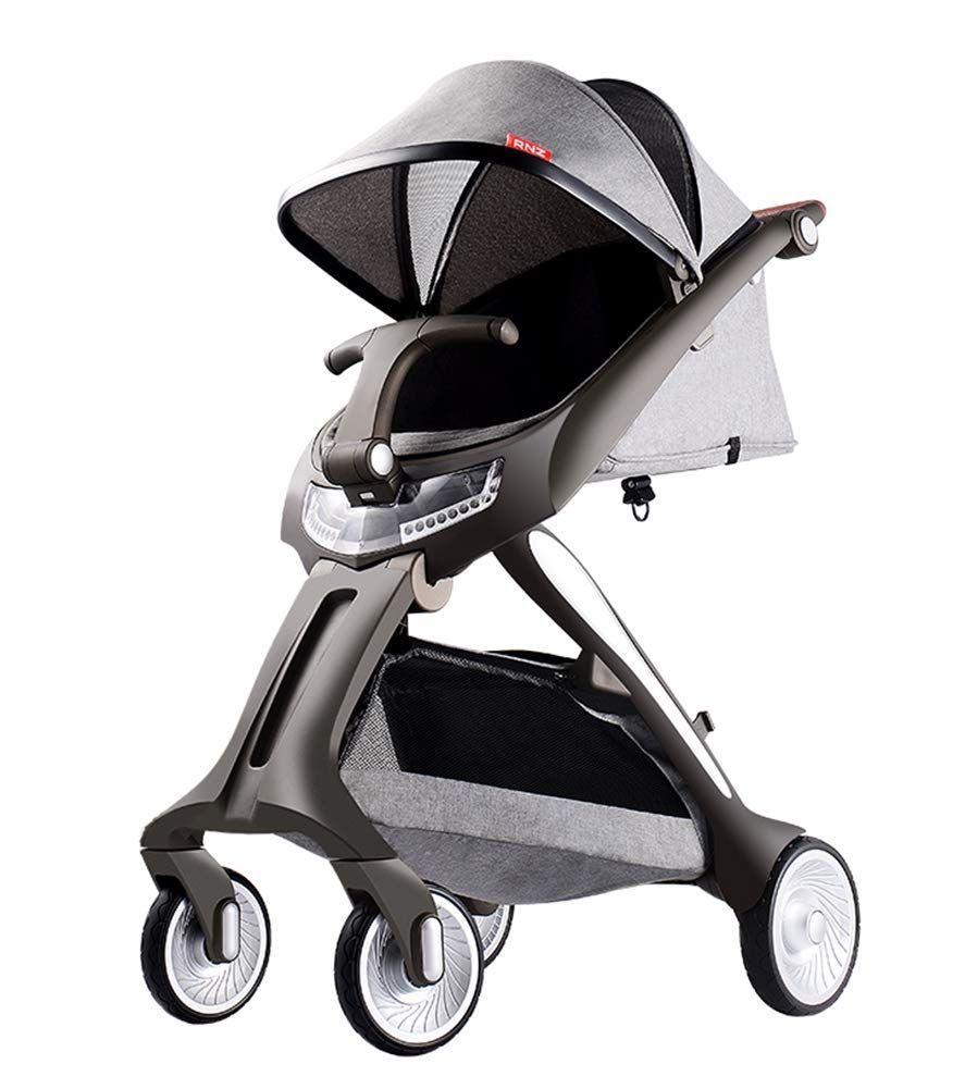 Qzx Baby Stroller Lightweight Folding Pushchair Adjust The Backrest At Multiple Baby Strollers Stroller Pushchair