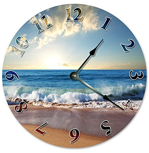Coastal Wall Clocks Beach Wall Clocks Beachfront Decor Wall