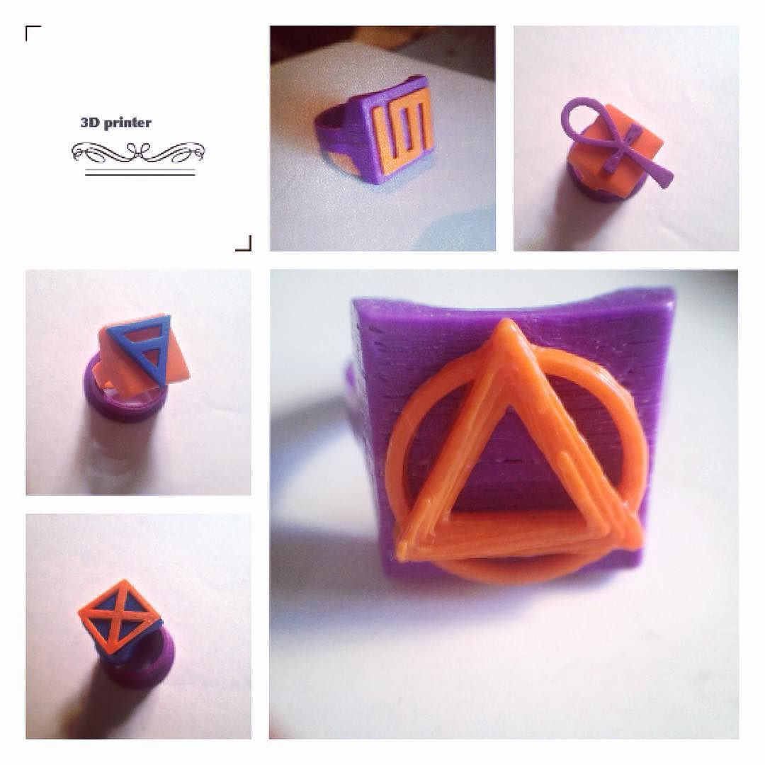 Something we liked from Instagram! Anéis de impressão 3D que fiz a algum tempo atrás #3dprinter #3d #ring #anel #diegopoke by diegopoke check us out: http://bit.ly/1KyLetq