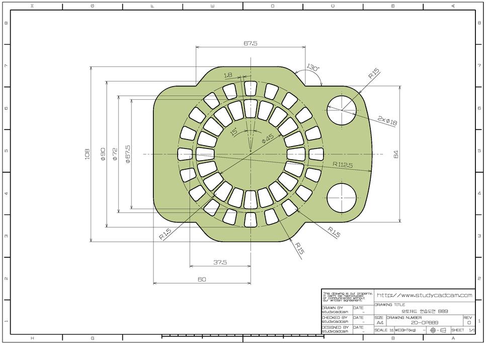 학습도면 2d 연습도면 오토캐드 연습도면 889 네이버 블로그 Autocad Drawing Technical Drawing Autocad