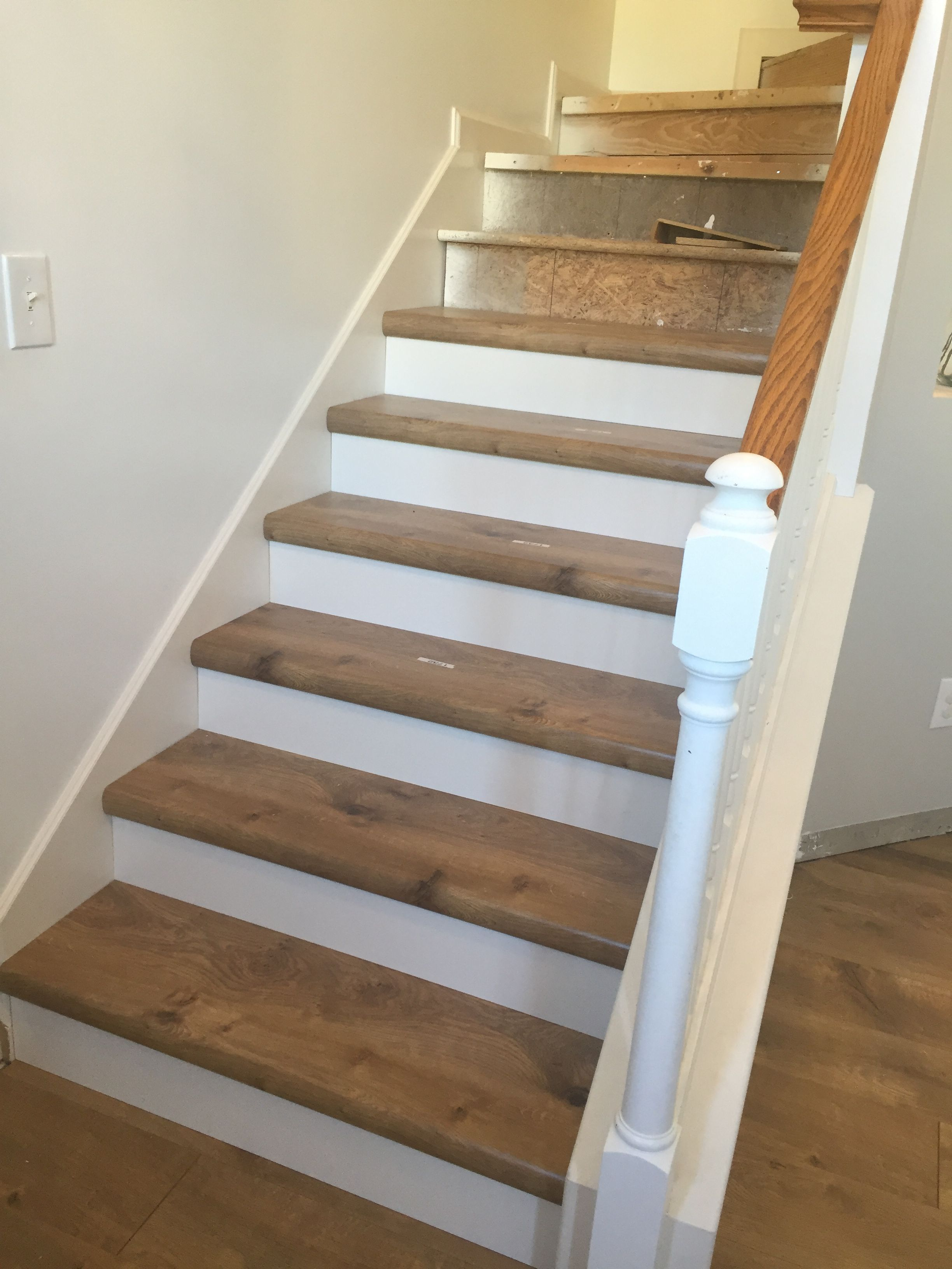 riverbend oak in pergo xp staircase renovation