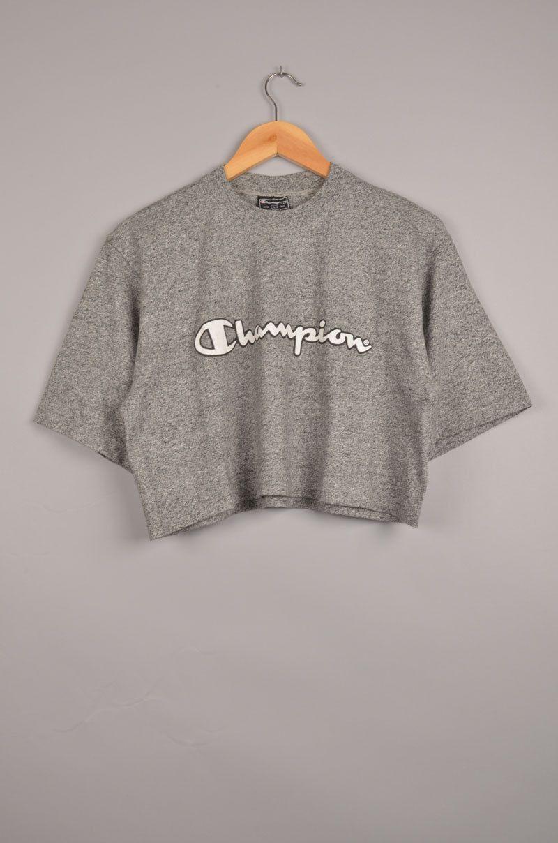 3b7c74c4636 vintage champion, crop top, vintage crop top, cropped t-shirt, cropped tee,  vintage t-shirts, vintage tees, women's tee, summer tee, nike door ...