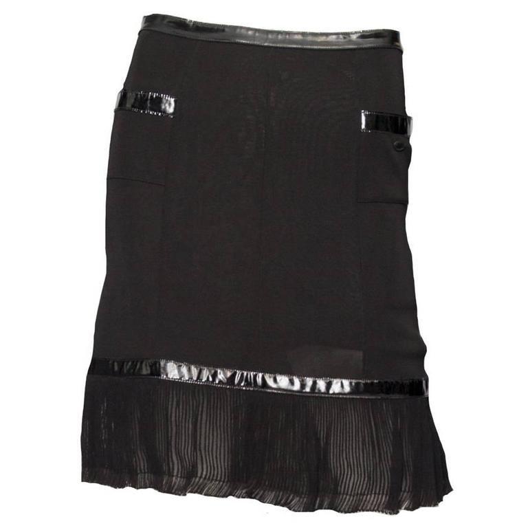 e0a93507186be9 Black Chanel Skirt 1990 Strakke Rok