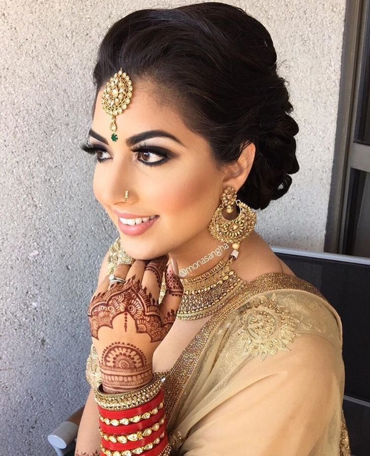 Pinterest pawank90 Indian bridal makeup, Bridal hair