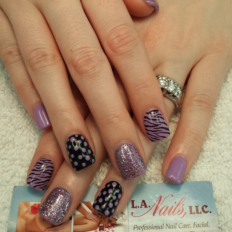 purple pattern | Uñas