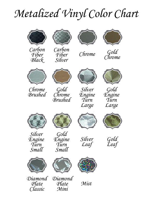 Craft Vinyl Color Charts Vinyl Vinyl Colors Color