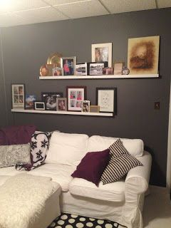 Midnight Mindness: Picture Ledges Are Up!  Home-made photo ledges