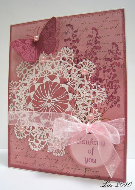 Lavender And Lace Cards Handmade Card Craft Greeting Cards Handmade