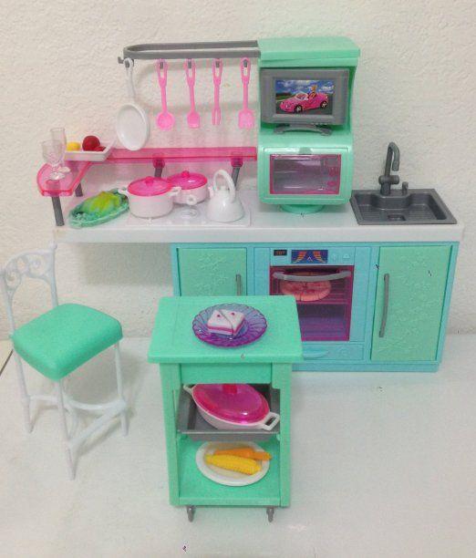 Admirable Amazon Com Barbie Size Dollhouse Furniture Cooking Corner Download Free Architecture Designs Itiscsunscenecom