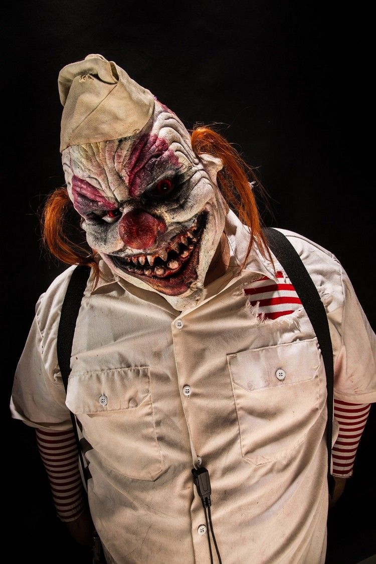 maquillage d 39 halloween 2016 pour homme fa on clown effrayant et costume de make up halloween. Black Bedroom Furniture Sets. Home Design Ideas