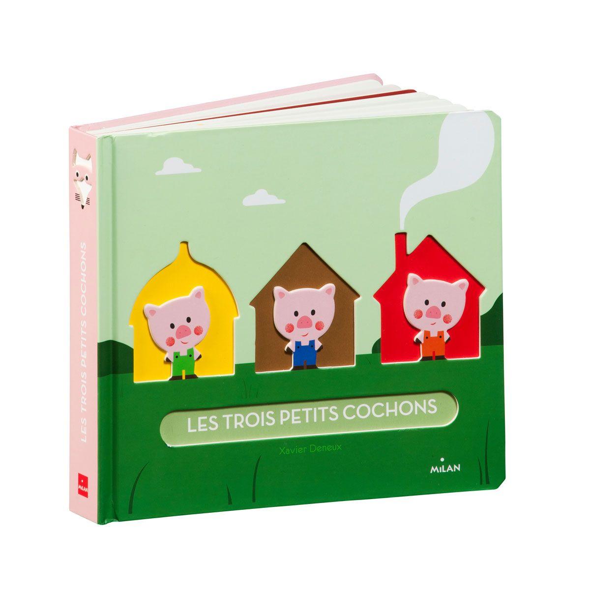 Livre Les trois petits cochons Conte gigogne pour enfant de 2 ans  4 ans