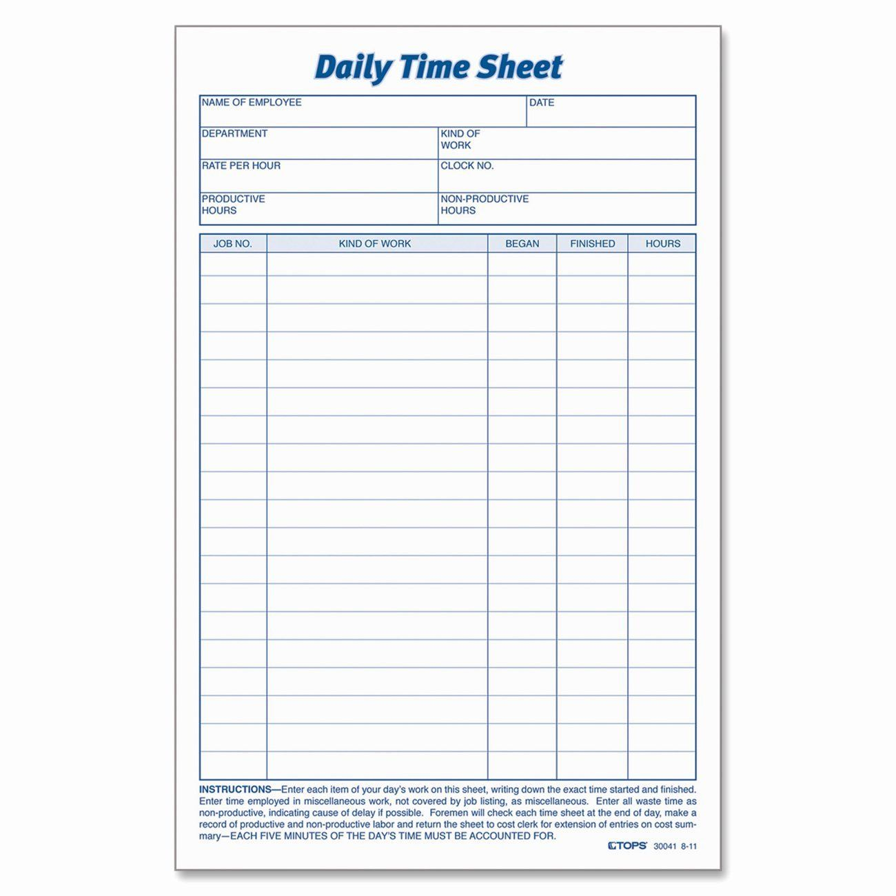 Work Hours Sheet New Daily Task Sheet For Employee Time Sheet Printable Timesheet Template Sheet Sample time card for employees