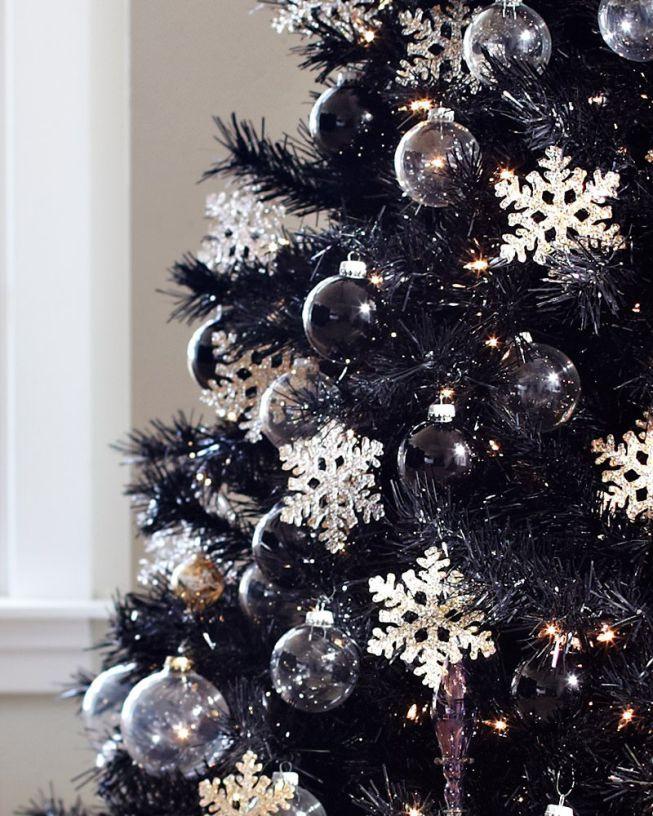 Loving The Elegance Of The Black Christmas Tree Black Christmas Decorations Black Christmas Tree Decorations Purple Christmas