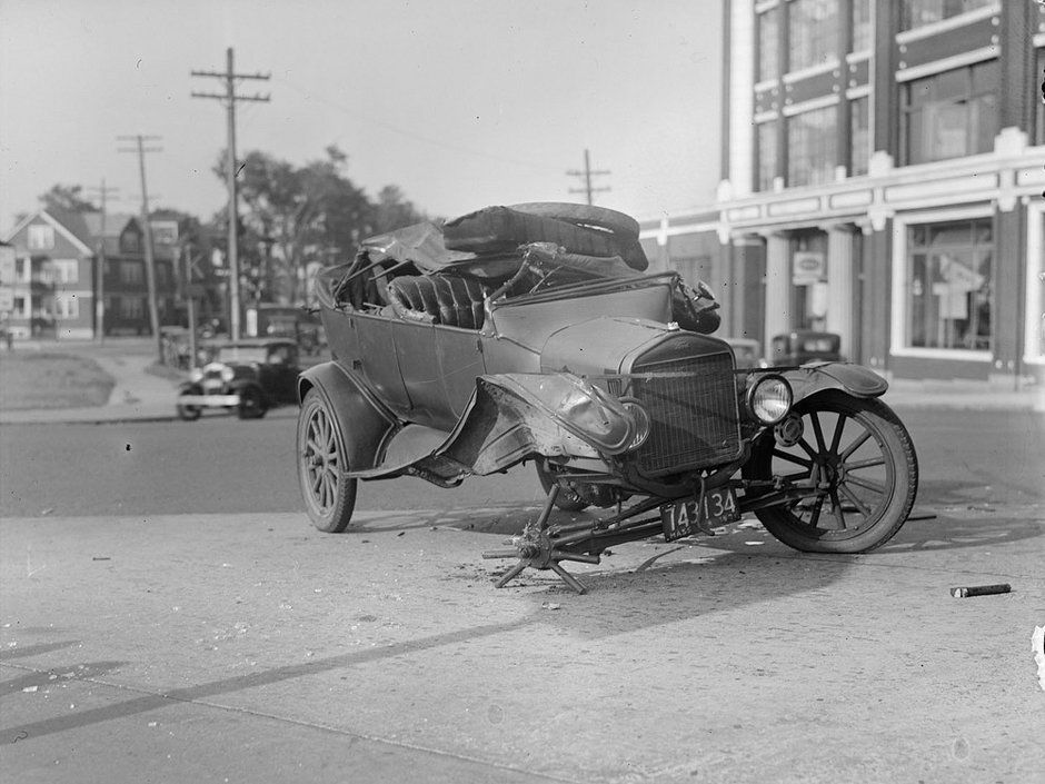 Model T Ford Forum Wrecks, Crashes, Accident Photos Old
