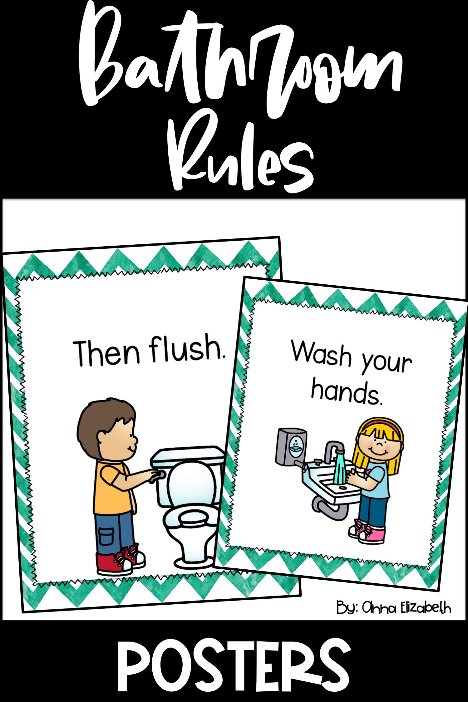 Bathroom Rules Posters | Bathroom rules kids, Bathroom ...