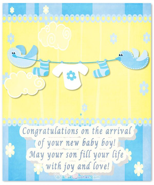 Baby boy congratulation messages with adorable images babys image with cute congratulations for baby boy m4hsunfo