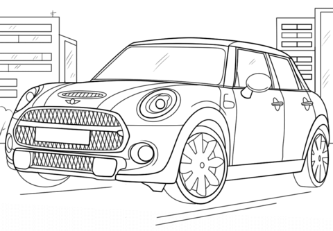 Mini Cooper Coloring Page Coloring Pages To Print Mini Cooper Coloring Pages