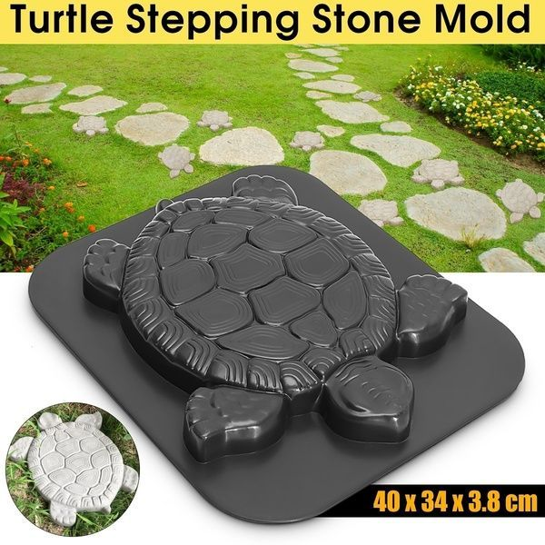 Photo of 40x34x3.8cm ABS Plastic Turtle Stepping Stone Mold Concrete Cement Mould Tortois…