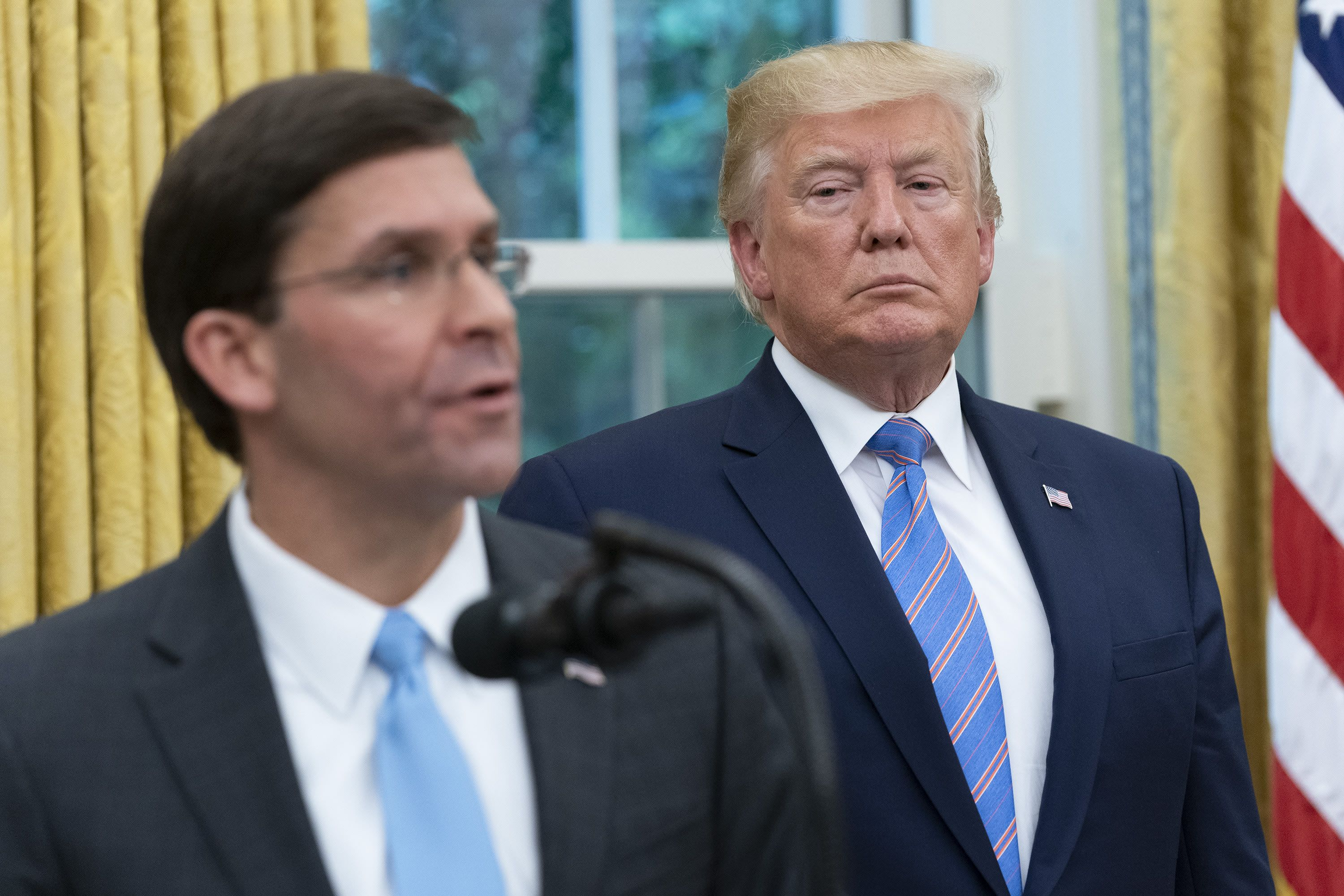Trump Was Talked Out Of Firing Defense Secretary Esper Over Disagreement On Protest Response Wsj Says In 2020 American Cities Military Equipment Military Personnel