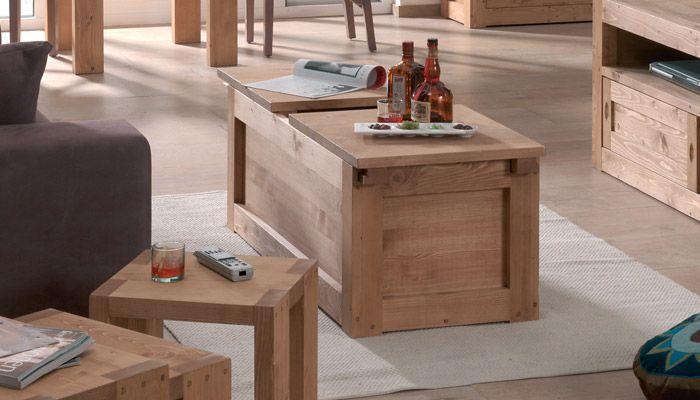 Table Basse Moving L 110 X H 45 X P 50 Cm 155 Table Basse En Pin Table Basse Table Basse Bar