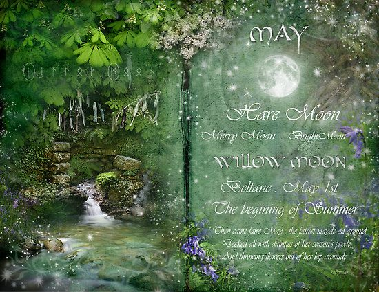 "Moon:  ""May: Willow #Moon,"" by Angie Latham. It makes a lovely Moon page for a Book of Shadows."