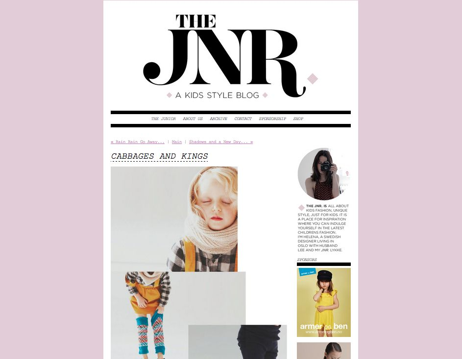 Cabbages & Kings featured on The JNR blog http://thejunior.squarespace.com/the-junior/2012/7/30/cabbages-and-kings.html